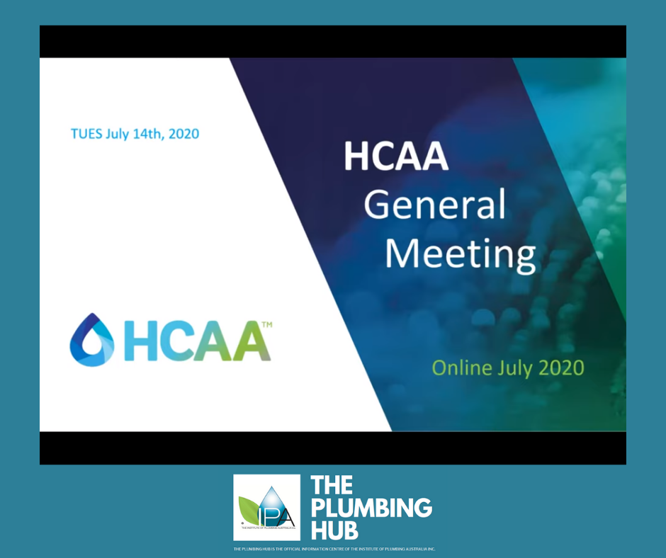 HCAA July 2020 General Meeting on YouTube