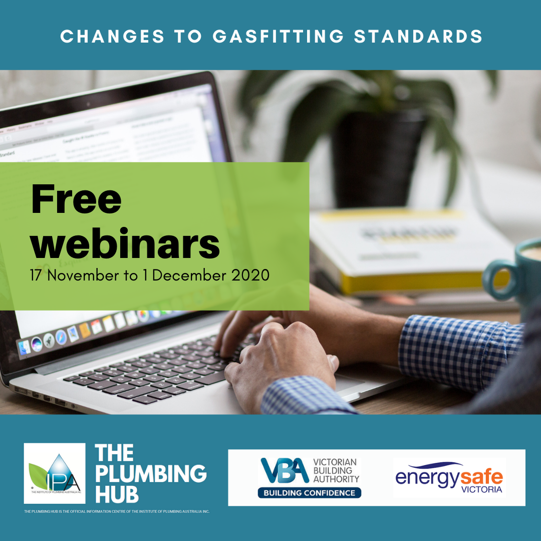 Changes to gasfitting standards – free webinars.