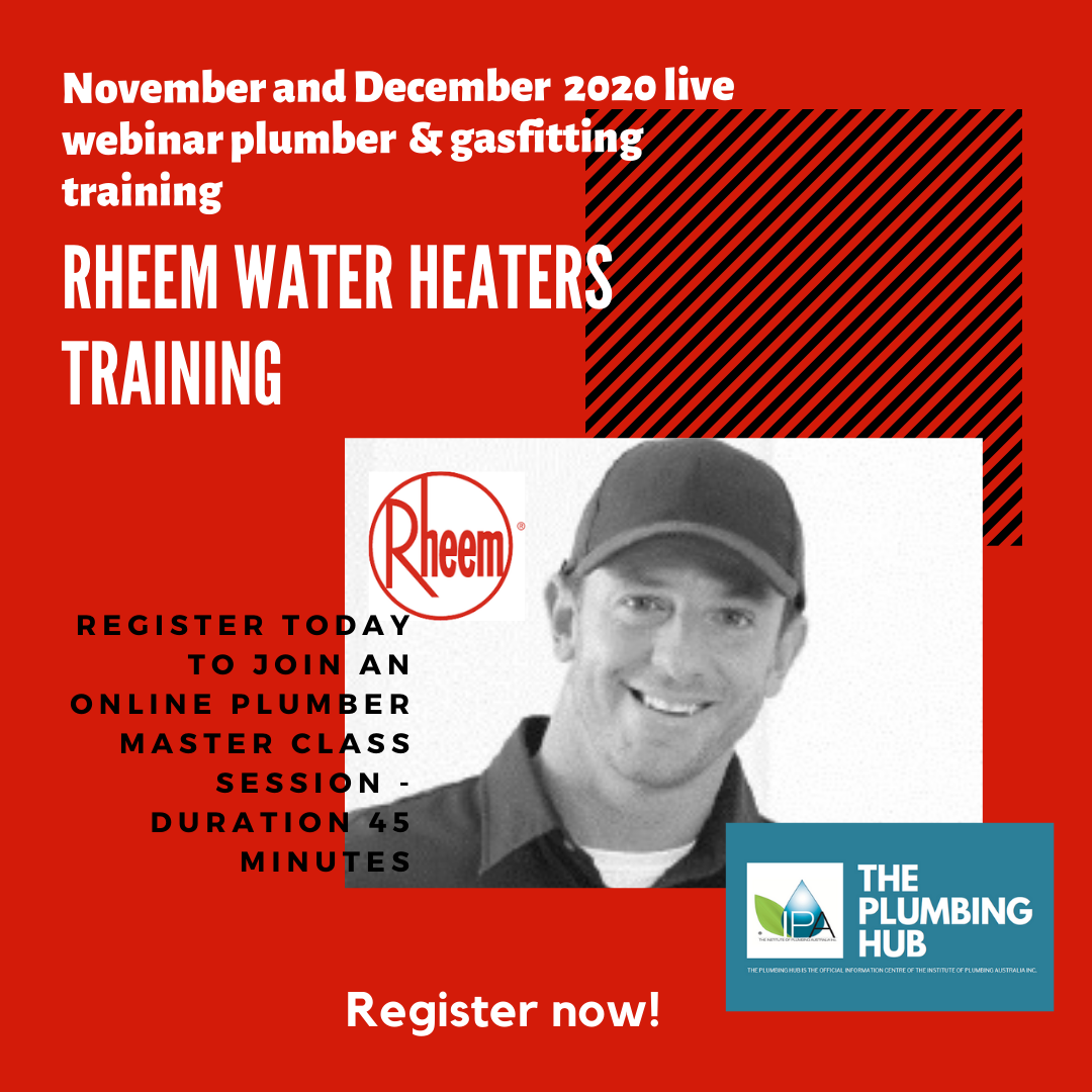 Rheem plumber and gasfitting technical water heaters training